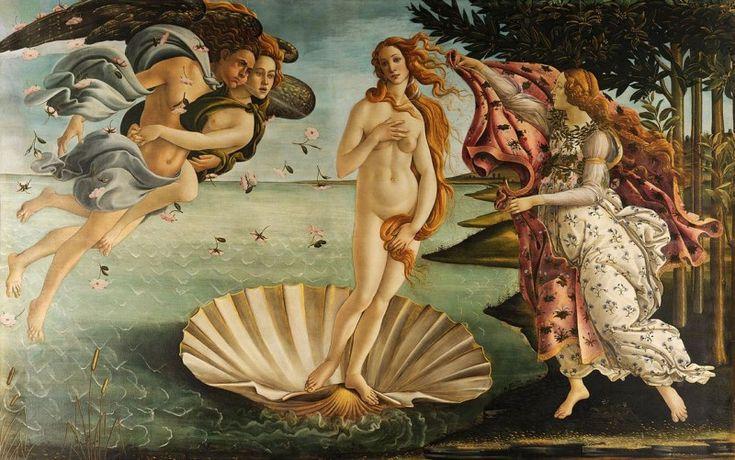 pintura del nacimiento de Venus