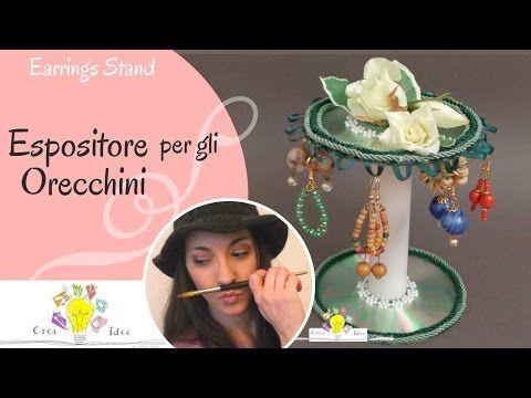 Portaorecchini fai da te - Tutorial DIY di Creaidee - YouTube
