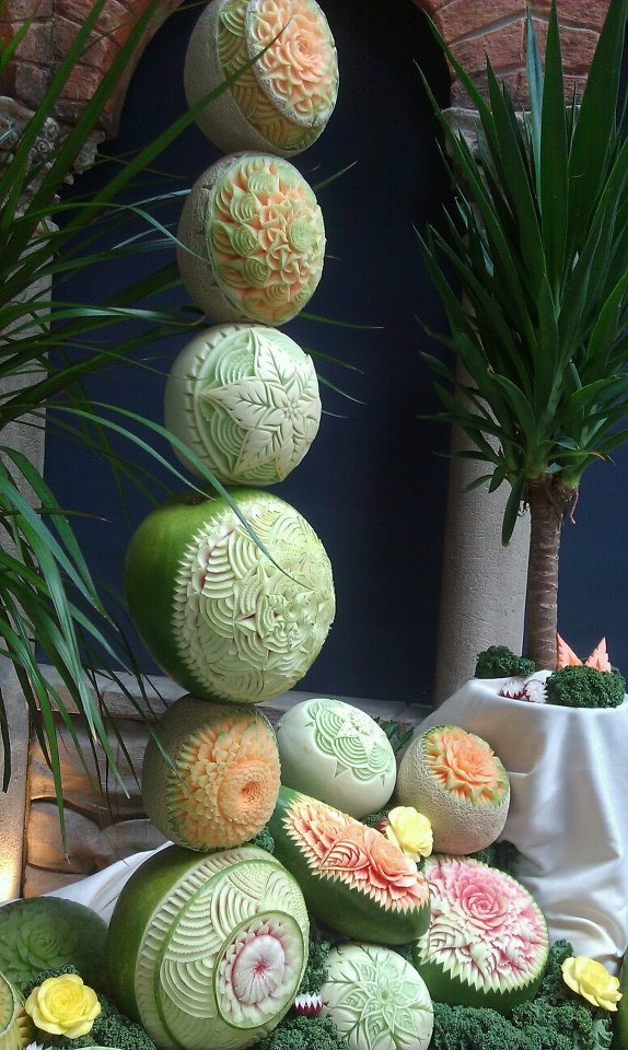Fruit vegetable carving display for acf philadelphia