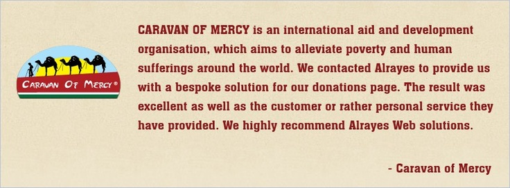 Alrayes Supported the cause of Caravan Of Mercy. Thank you