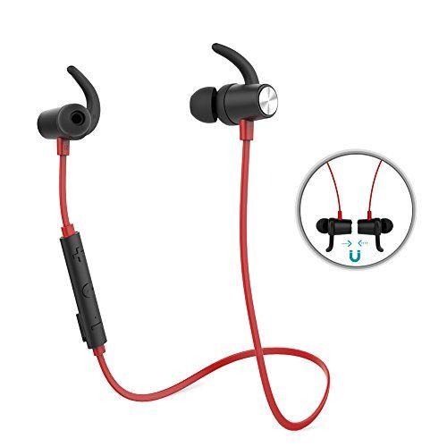 nice dodocool Auriculares Bluetooth 4.1 Magnéticos Deportivos Estereos In-Ear para Correr con HD Mic CVC 6.0 Cancelación de ruido para iPhone Samsung LG Huawei