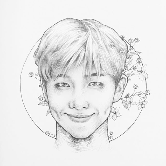 Bts Rm Namjoon Fanart With Images Bts Drawings Cute Doodles