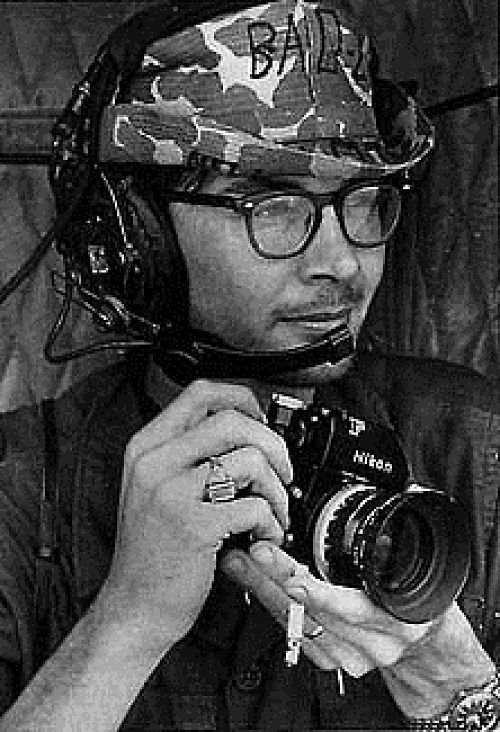 Charles Richard Eggleston (Nov 1945 – May 6, 1968) was a photographer with UP International. In May 1968, a jeep carrying 5 journalists accidentally came across Viet Cong outside Saigon. Despite their attempts to dissuade the soldiers, 4 were shot and killed. Eggleston swore vengeance. It remains disputed whether he was participating in a firefight, or simply photographing it, when he was killed by a sniper. Most sources agree that he was at least carrying a rifle.