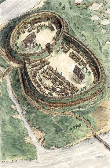 The Ostrów Tumski island - Guide - Poznan Reconstruction of the north side of Poznań stronghold from the 2nd half of the 10th century. Fig. Jarosław Gryguć