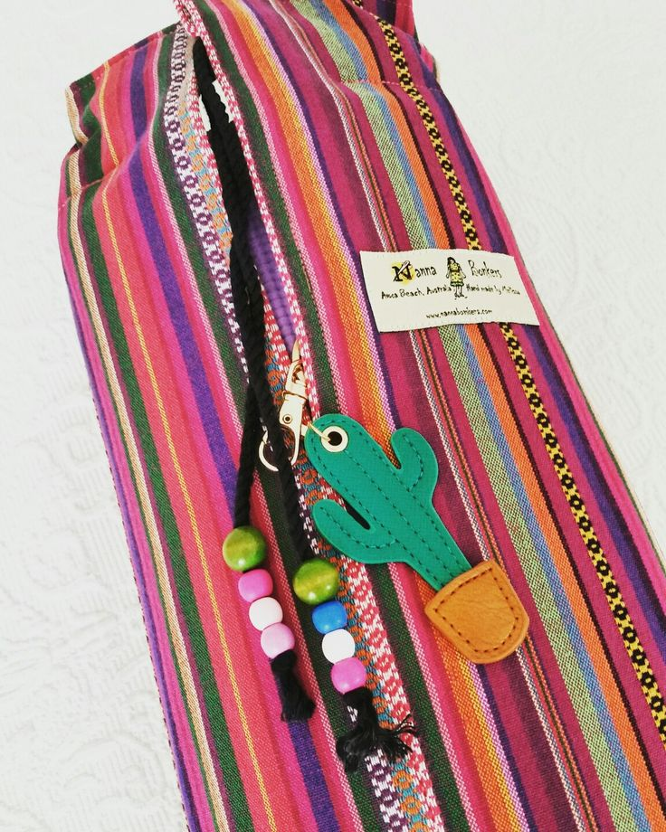 Yoga mat bag by NannaBonkers Mexican Textiles