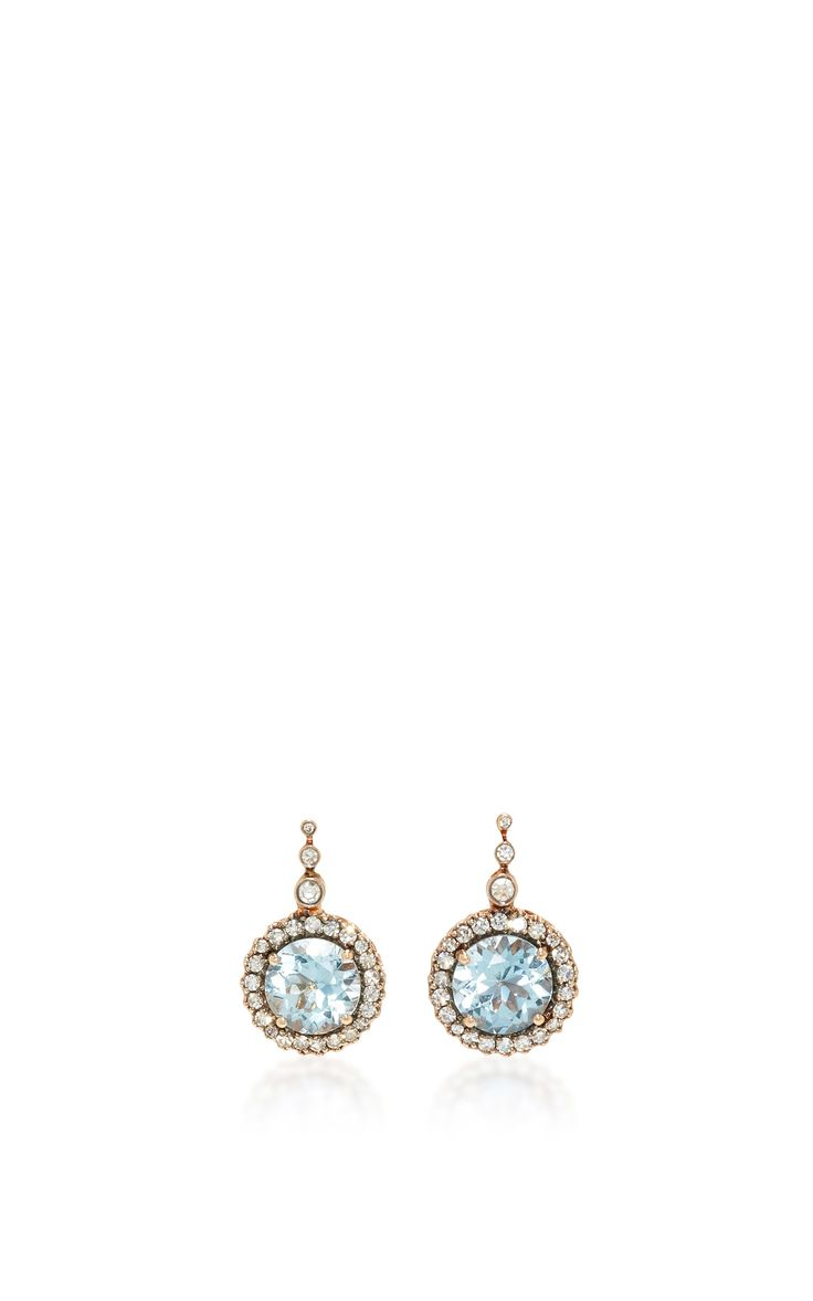 Beirut Earrings with Aquamarine by SELIM MOUZANNAR for Preorder on Moda Operandi