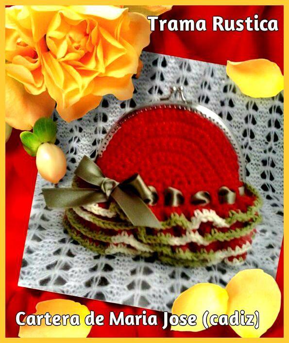 ¡Apúntate a la moda! La Trama Rústica es un material novedoso en el mercado que te permitirá crear complementos tan fabulosos como esta cartera de María José. ¡Preciosa!