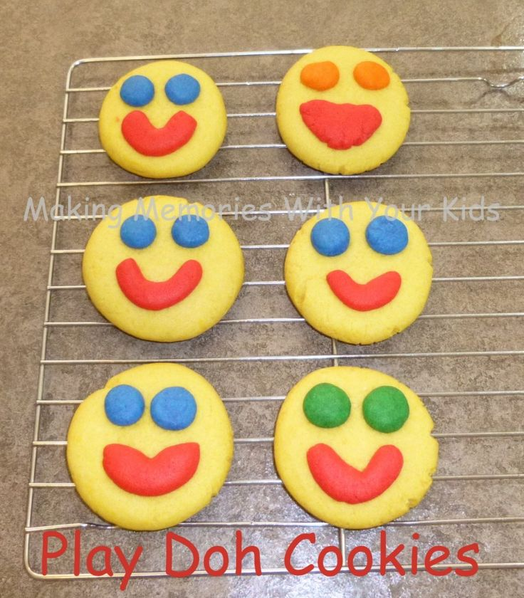 Play Doh Cookies - at Making Memories With Your Kids... cookies that LOOK like Play Doh, and created LIKE playing with Play Doh... but you can eat them!