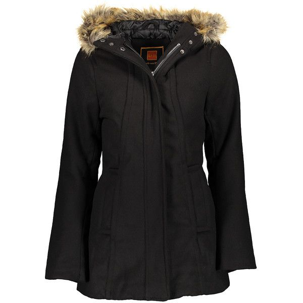 Lady von Hart Black Faux Fur Hood Lined Puffer Coat ($40) ❤ liked on Polyvore featuring plus size women's fashion, plus size clothing, plus size outerwear, plus size coats, plus size, plus size long coats, fitted coat, long puffy coat, long coat and plus size puffer coat