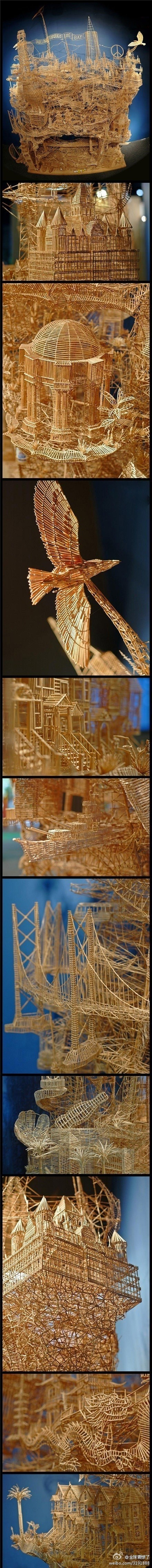 Wow. 35 years. 100,000 toothpicks.