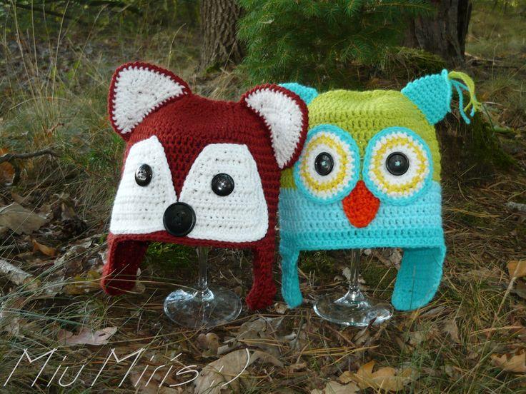 Crochet forest cap