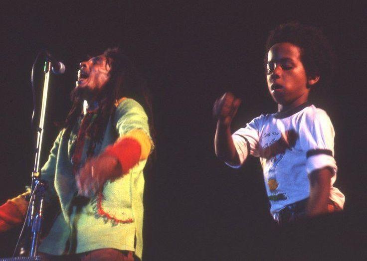 Bob and Ziggy Marley concert in 1978.