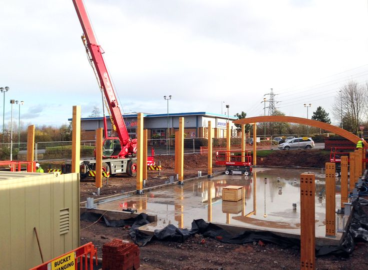 Despite adverse weather conditions, the build of Costa Coffee's new Net Zero Energy retail building is now underway!