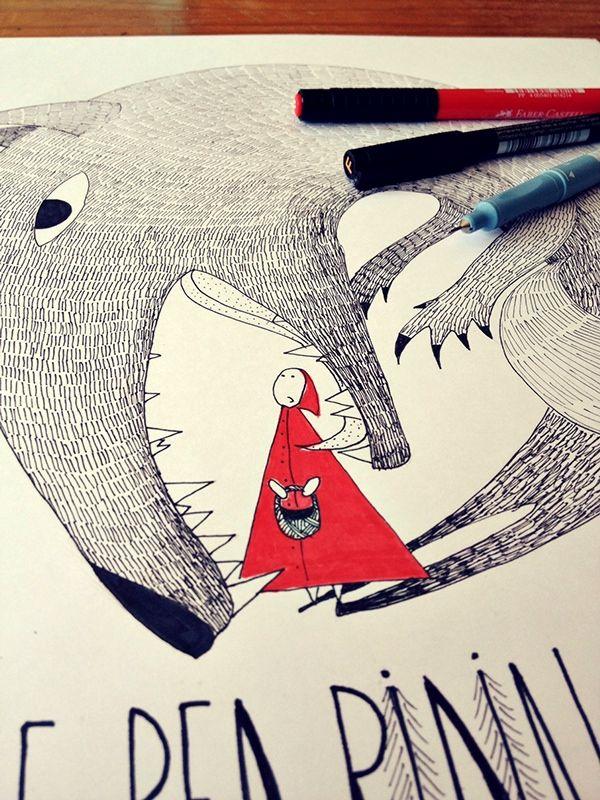 Little Red Riding Hood by Inka Vybohova, via Behance