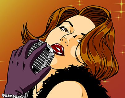 "Check out new work on my @Behance portfolio: ""Pin up singer colored."" http://be.net/gallery/35135221/Pin-up-singer-colored"