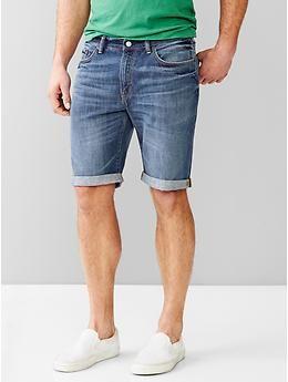 """1969 slim fit denim shorts (10"""")"""