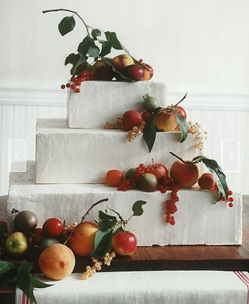 fruit wedding cake.  http://roxyheartvintage.com