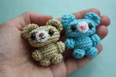 Cute amigurumi bears