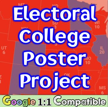 Electoral College Poster Project: Integrate Math into Social Studies! Google 1:1!