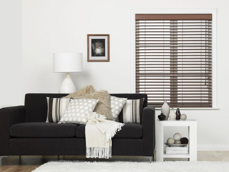 Firenze Chocolate Wooden Blinds - A darker wood venetian can create such a lovely warm feel.