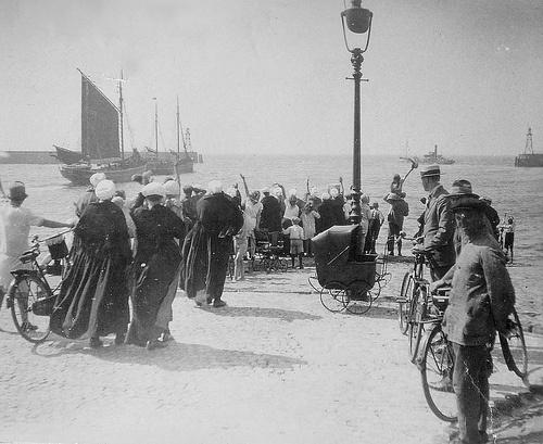 Scheveningen juli 1928 Afscheid #ZuidHolland #Scheveningen