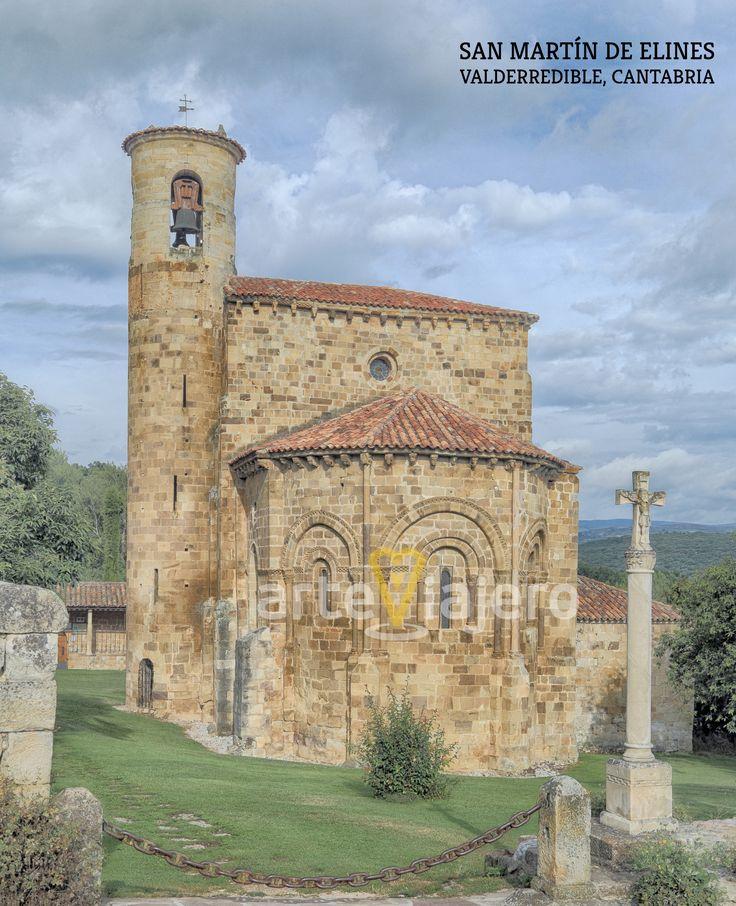 San Martín de Elines, Valderredible, Cantabria. Colegiata de estilo #románico