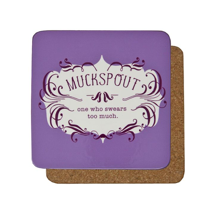 Make someone laugh when drinking their morning coffee with this purple Unpleasantries coaster. Designed exclusively for English Heritage, our colourful Unpleasantries range features Victorian words used to describe certain characteristics in people. This coaster is backed with cork to prevent slipping and is heat resistant to protect your surfaces.