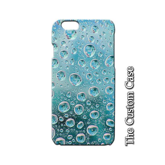 Rain Drops Iphone Case Water Drops Phone Case by TheCustomCase