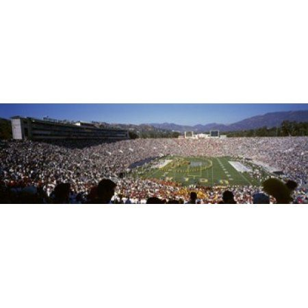 Spectators watching a football match Rose Bowl Stadium Pasadena City of Los Angeles Los Angeles County California USA Canvas Art - Panoramic Images (36 x 12)