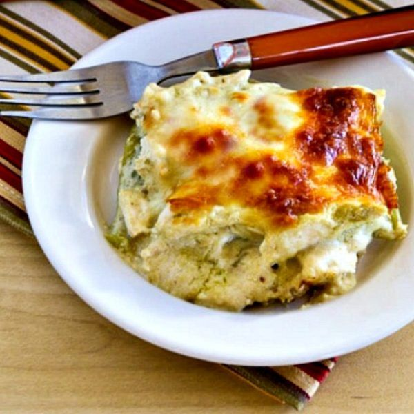 Green Chile And Chicken Mock Enchilada Casserole Found On