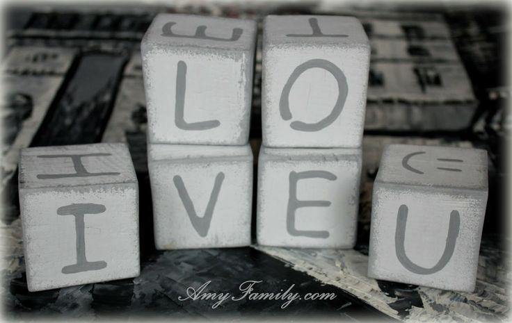 Amy Family with Love: Кубики с буквами. Valentine's Day present.