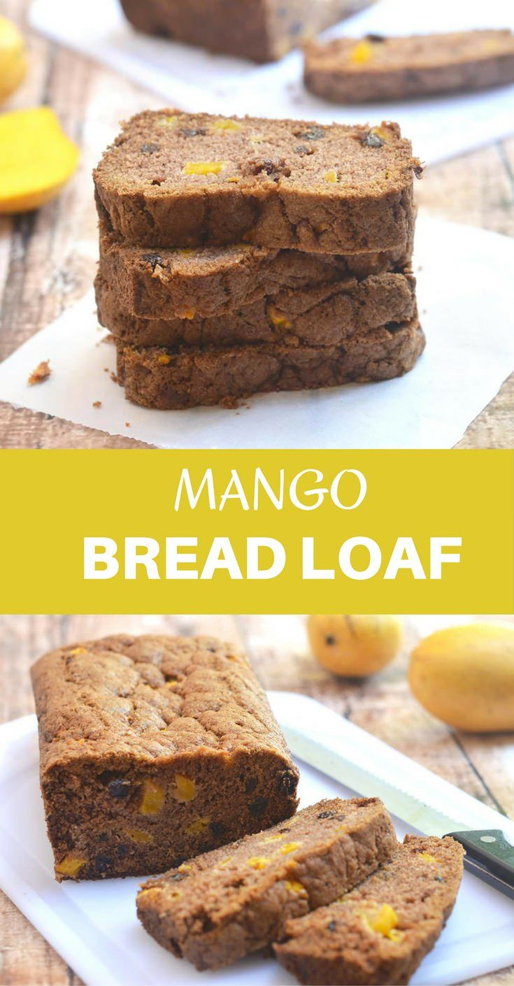 Mango bread loaf deliciously studded with mango bits is your new baking favorite! Soft, moist, and bursting with bright mango and warm cinnamon flavors, it's amazing as a quick breakfast or anytime snack.