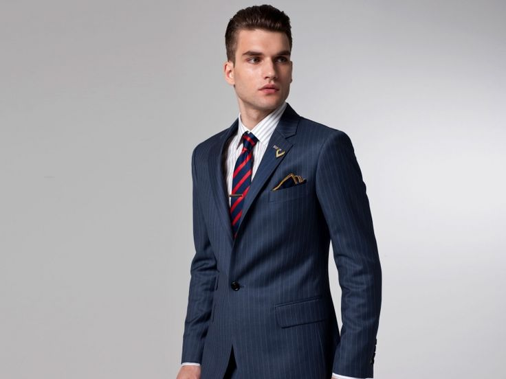 25  best ideas about Blue pinstripe suit on Pinterest | Mens suits ...