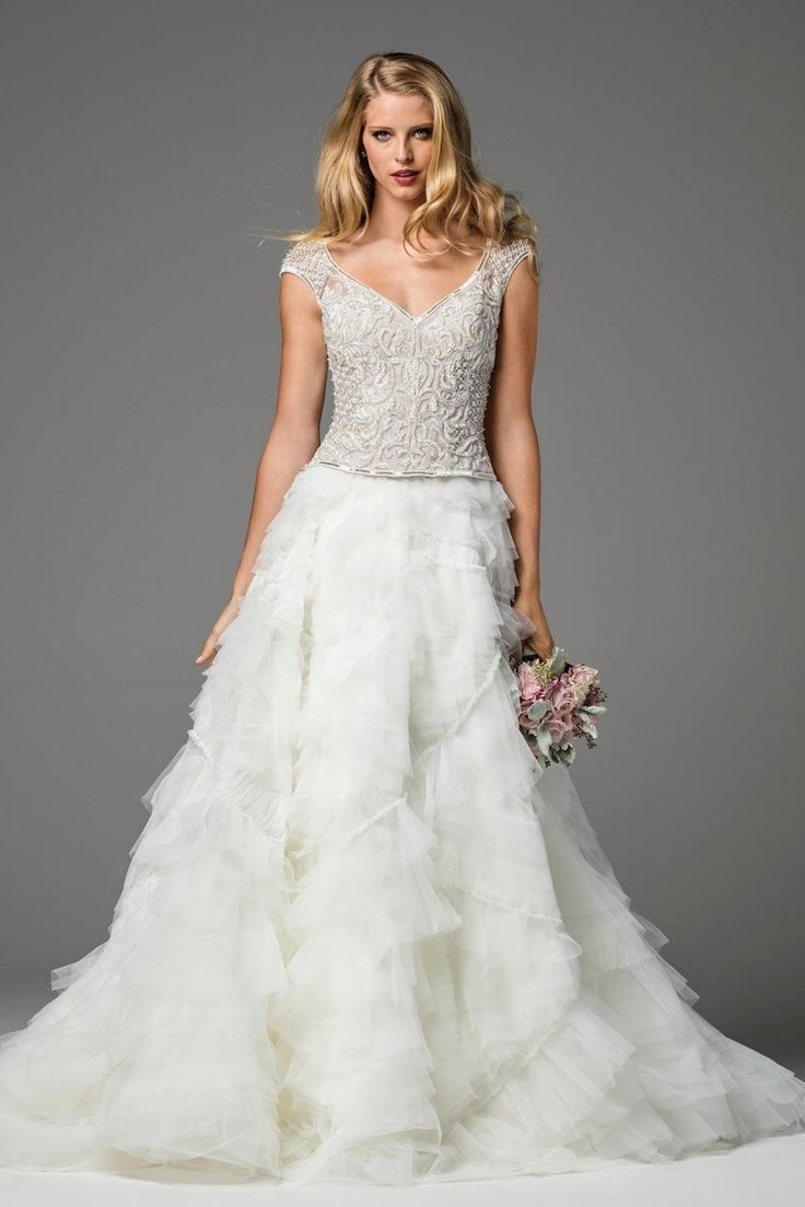 56 best girls in white dresses images on pinterest wedding watters bridal style 0132403 bridals by lori interesting juxtaposition of intricate almost ombrellifo Images