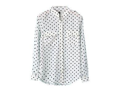 Blusa feminina de chifon  mangas longas