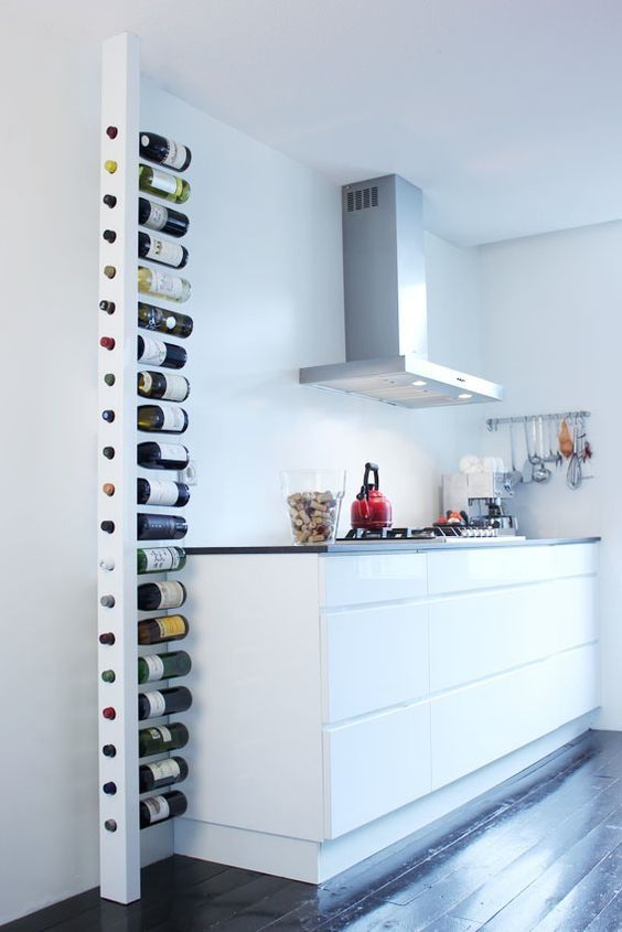 This unconventional built-in wine rack from Woon Home makes quite an impression.
