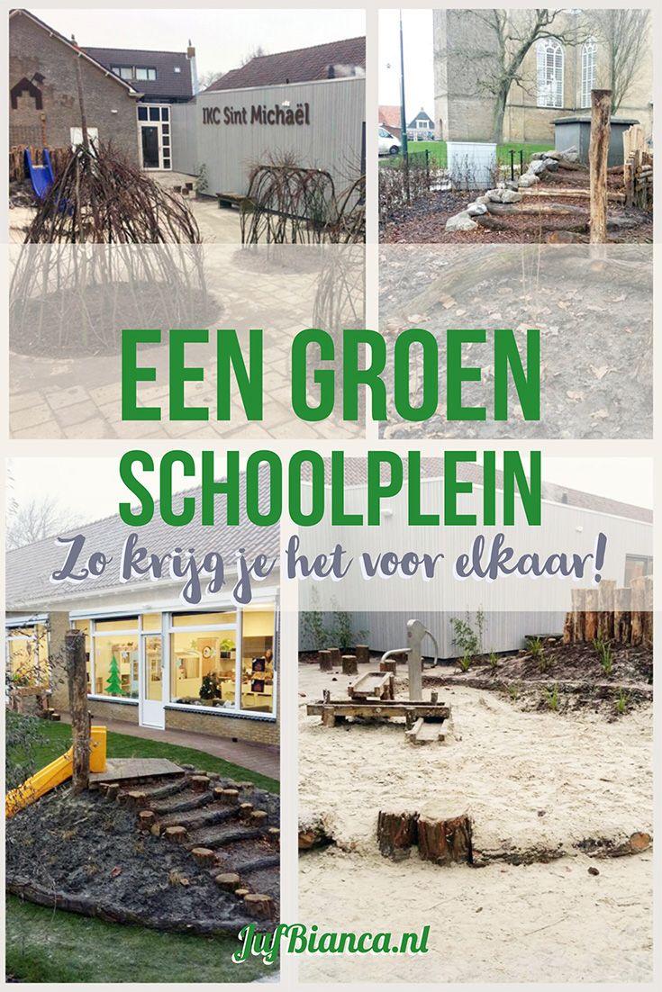 Een groen schoolplein
