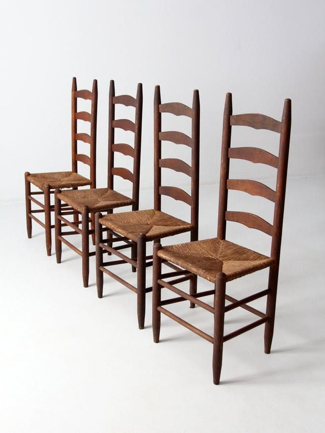 Shop It Like It S Hot The 10 Most Popular Vintage Items According To Sellers Ladder Back Chairs Kitchen Chairs For Sale Antique Ladder