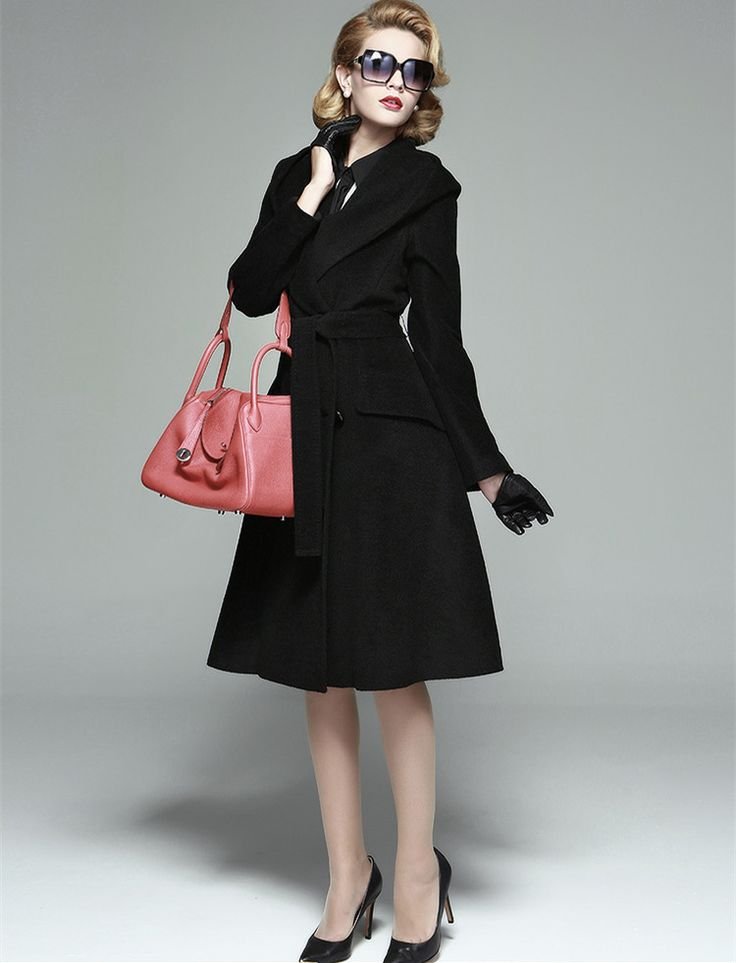 Find More Information about winter women black long sleeve swing midi cashmere hooded wool coat plus size vrouwen vintage winterjas casaco feminino coats,High Quality womens winter boots clearance,China coat shop Suppliers, Cheap women coat brand from Vintage lady wholesale on Aliexpress.com
