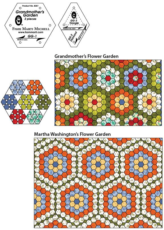 Quilting Templates Hexagon : 124 best images about MARTI MICHELL on Pinterest Quilt, Triangle template and Log cabin quilts
