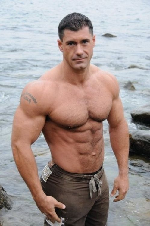Handsome older muscular men