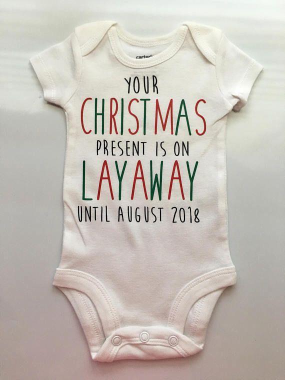 Christmas Pregnancy Announcement Idea Pregnancy Reveal  baby