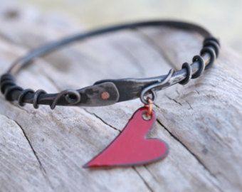 Hufeisen Nagel Armband handgeschmiedete Herz von AlchemyArtworks