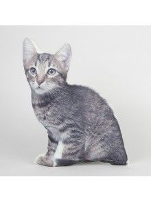 Sass & Belle Lifelike Striped Cat Cushion