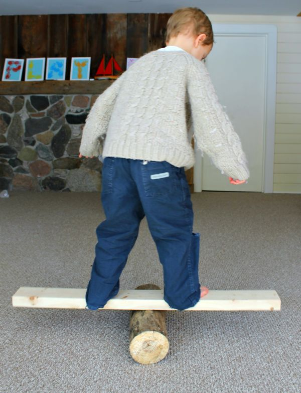 This gross motor activity for preschoolers burns off a ton of energy, and helps develop balance, stability, and problem solving skills too! Lots of ideas in the post for how to use this activity, and what to use if you don't have a round log!