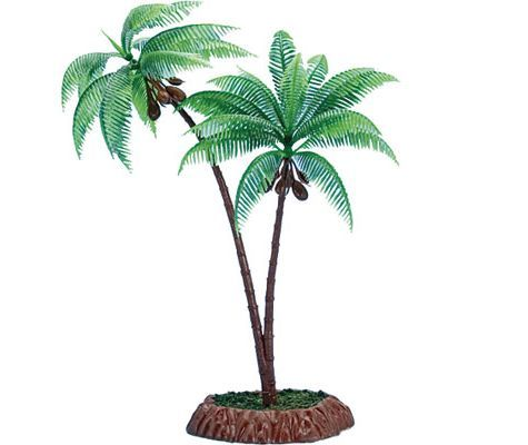 Plastic palm tree centerpiece party city baby shower for Palm tree decorations for the home