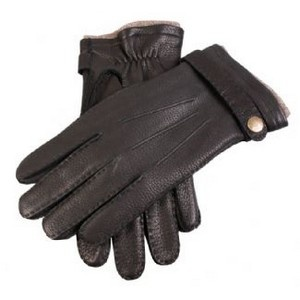 Dents Gloves - Black Casual Deerskin Gloves with Strap #mens #gloves #christmas