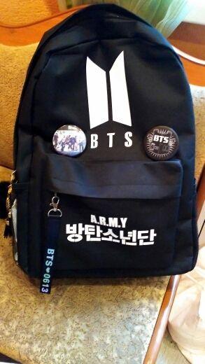 Great Kpop BTS Logo Backpack bts bag