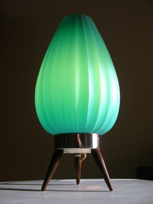 Mid-Century TV lamp. via