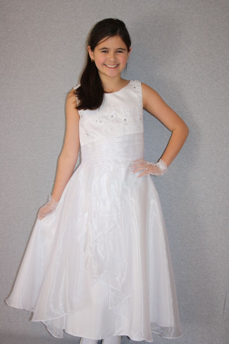 First Communion/Flower Girl Dresses from Silk n Satin Communion Dresses. $65 https://silknsatincommuniondresses.com.au/product/bella/
